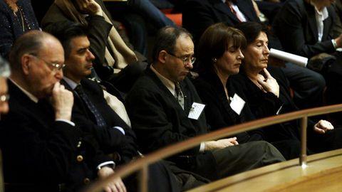 Fernández Albor captado en una imagen durante el debate de investidura como presidente de la Xunta de Galicia de Manuel Fraga.