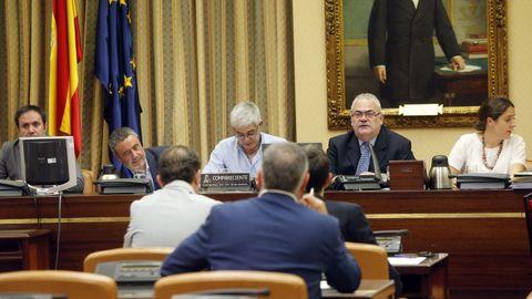 Declaración del maquinista del Alvia accidentado en Santiago, en la comisión de investigación del Congreso de los Diputados