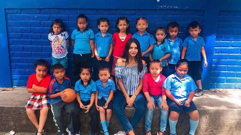 Gabriela López. Estudia Educación Infantil y viajó hasta El Salvador para ejercer como una profesora más en Gualacocti.