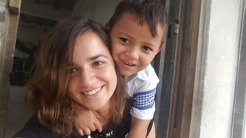 Marta pardo. Es su segunda vez como voluntaria en Tegucigalpa y no duda en recomendar la experiencia.