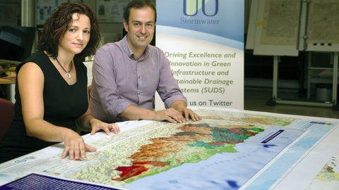 Los investigadores de la Universidad de Oviedo Cristina Allende y Luis Ángel Sañudo