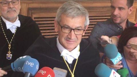 Santiago García Granda, rector de la Universidad de Oviedo
