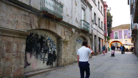 Pintada en Pontevedra