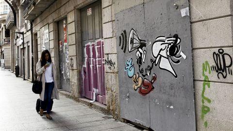 Pintada en Vigo