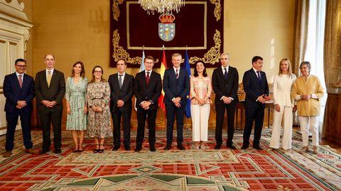 Foto de familia del nuevo Gobierno gallego
