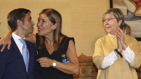 Los dos conselleiros salientes, José Manuel Rey Varela y Beatriz Mato.