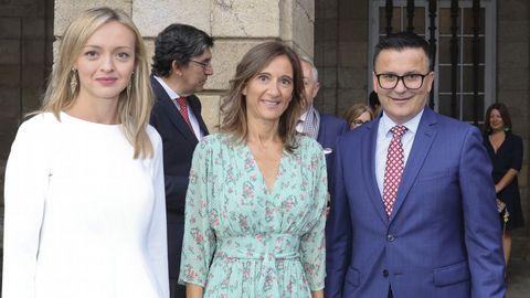 Las tres caras nuevas del Ejecutivo de Feijoo: Fabiola García, Carmen Pomar y José González.