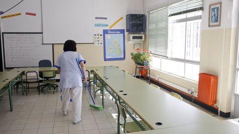 Una trabajadora del sector de la limpieza