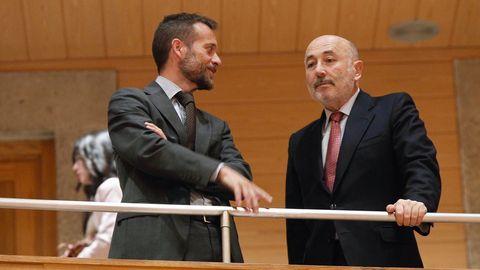 El delegado del Gobierno en Galicia, Javier Losada, en el Parlamento