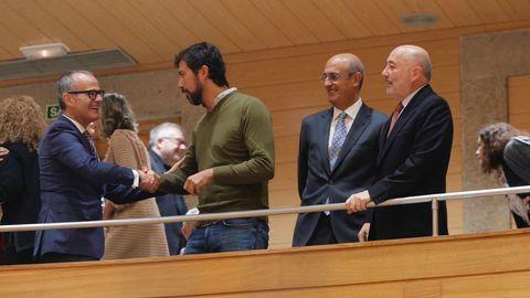 Entre otros, el alcalde de Ourense, Jesús Vázquez.