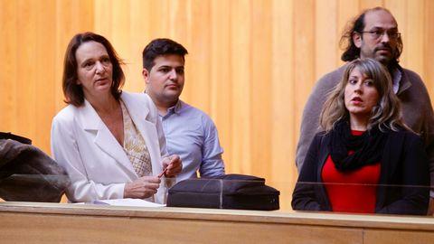 Carolina Bescansa, durante el debate del estado de la Autonomía.