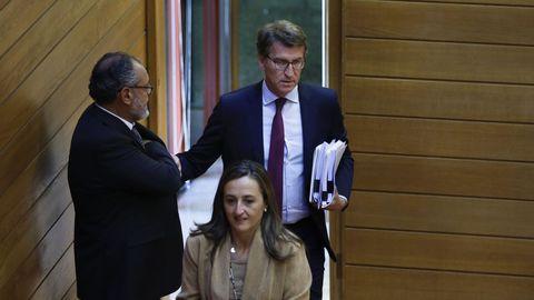 El regreso de Feijoo al Parlamento para la sesión de tarde del debate del Estado de la Autonomía