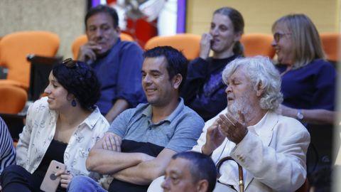 Xosé Manuel Beiras, en la tribuna de invitados