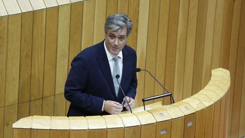 Pedro Puy, portavoz parlamentario del PP, en su intervención