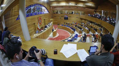 Vista general del pleno del Parlamento