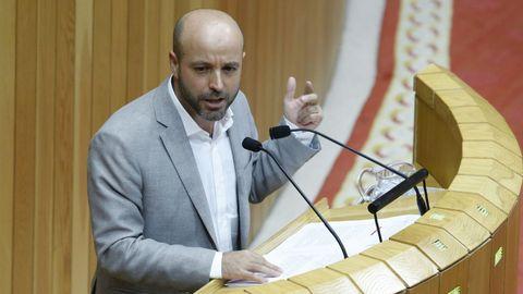 Luís Villares durante su intervención