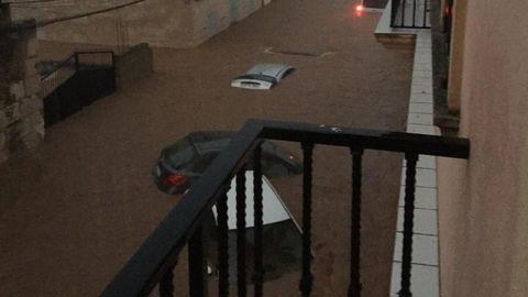 Las calles de Sant Llorenç, completamente inundadas