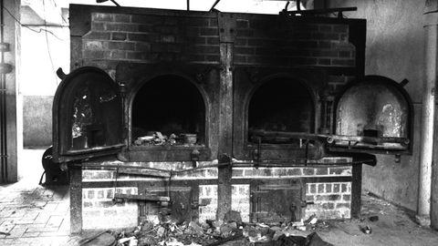El horno crematorio de Mauthausen, campo al que fueron enviados la mayoría de los asturianos deportados