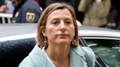 Carme Forcadell. Expresidenta de la Camara catalana. Rebelión. En prisión.