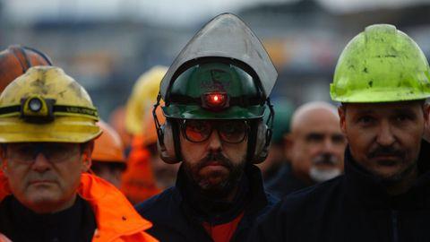 Marcha obrera por A Coruña en apoyo a los trabajadores de Alcoa