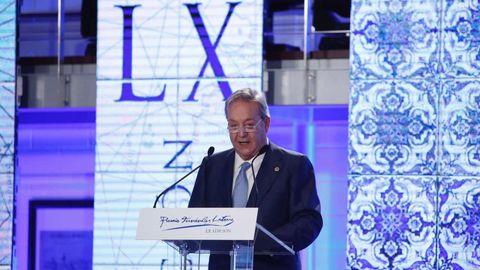 Santiago Rey Fernández-Latorre, durante su discurso