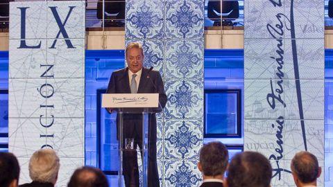 El presidente de La Voz de Galicia, durante su discurso