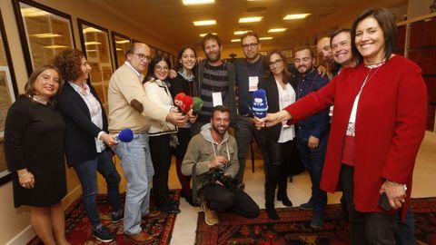 El acto de entrega del premio a Marcelo Rabelo de Sousa fue seguido por numerosos periodistas portugueses que se desplazaron a Galicia