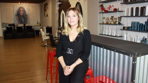 En la peluquería de López Gudiña trabajan seis personas
