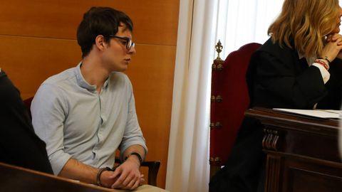 Patrick Nogueira, durante una de las sesiones del juicio