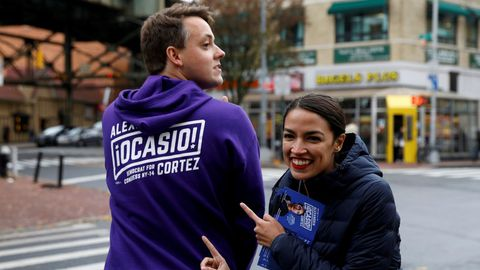 Alexandra Ocasio-Cortez se presenta a congresista por Nueva York