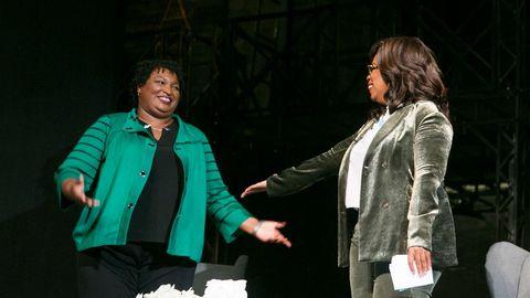 Oprah Winfrey hizo campaña por Stacey Abrams, aspirante a ser la primera gobernadora negra