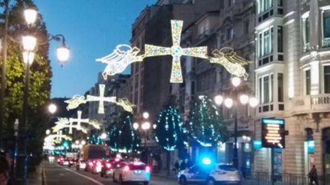 Luces de Navidad en Oviedo