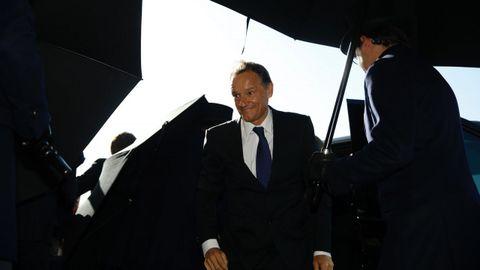Miguel Jove Ortega, sobrino de Amancio Ortega y marido de Mercedes de las Heras, a su llegada a la boda de Marta Ortega y Carlos Torretta