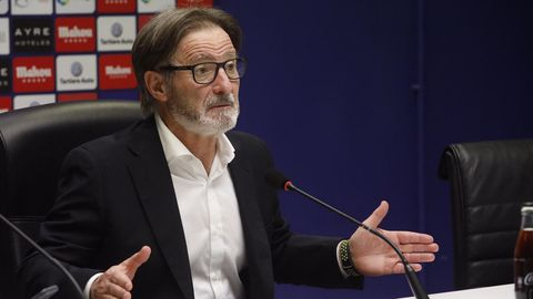 Juan Antonio Anquela en sala de prensa