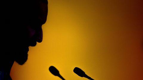 La silueta de Santiago Abascal, presidente de Vox