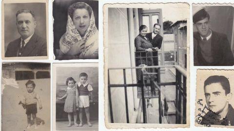 Varias de las fotografías familiares y de amigos de Emilio Rodríguez