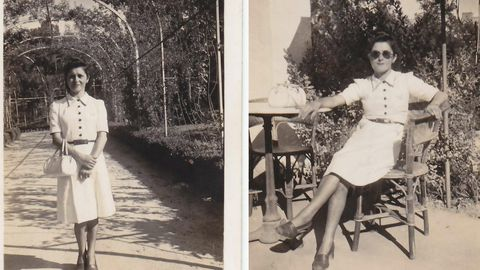 Otras dos imágenes de Angelines, posiblemente tomadas el mismo día