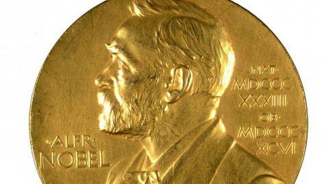 Medalla que se entrega aos ganadores do premio Nobel