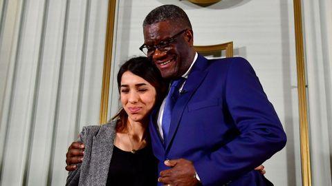 Nadia Murad y Denis Mukwege recogieron el Nobel de la Paz en el ayuntamiento de Oslo