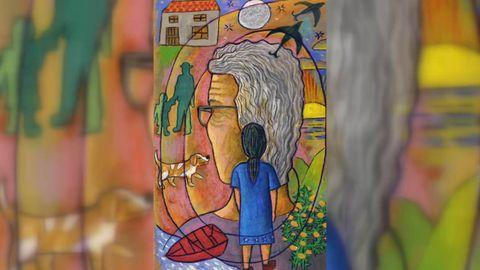 O pintor Manolo Figueiras é o autor das ilustracións de Os contos da avoa Pepa. Xunto con Fernández Naval e a poeta Eva Veiga, estará no acto de presentación do libro, que terá esta tarde (19.30 horas), na libraría Moito Conto da Coruña