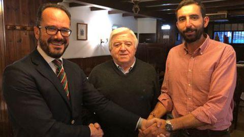 Rodolfo Espina, Ignacio Blanco y Sergio Marqués, miembro de Vox Asturias