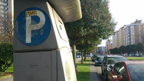 Una de las zonas de la ORA de Gijón