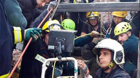 Rescate de Julen, en Málaga, con la colaboración de la Brigada de Salvamento de Hunosa