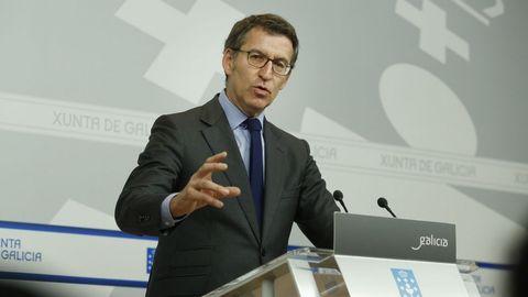 Rueda de prensa de Núñez Feijoo tras el Consello de la Xunta
