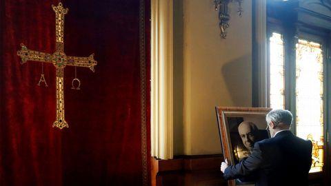 La capilla ardiente, en la imagen, con los restos del expresidente del Principado, Vicente Álvarez Areces
