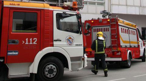 Imagen de archivo de los bomberos de Betanzos