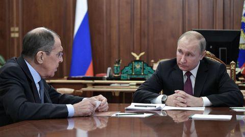 Lavrov y Putin, en una imagen de archivo