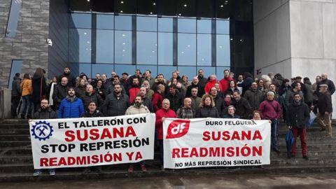 La protesta, ante en Palacio de Justicia