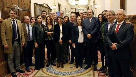 Diputados gallegos, después de la aprobación en el Congreso de la transferencia de la AP-9
