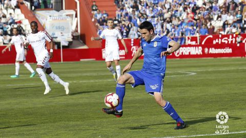 Folch Albacete Real Oviedo Carlos Belmonte.Ramón Folch, durante el Albacete - Real Oviedo